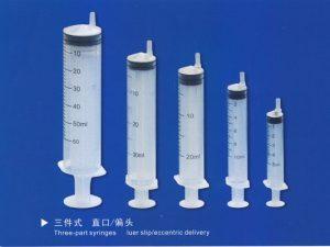 syringes three-part